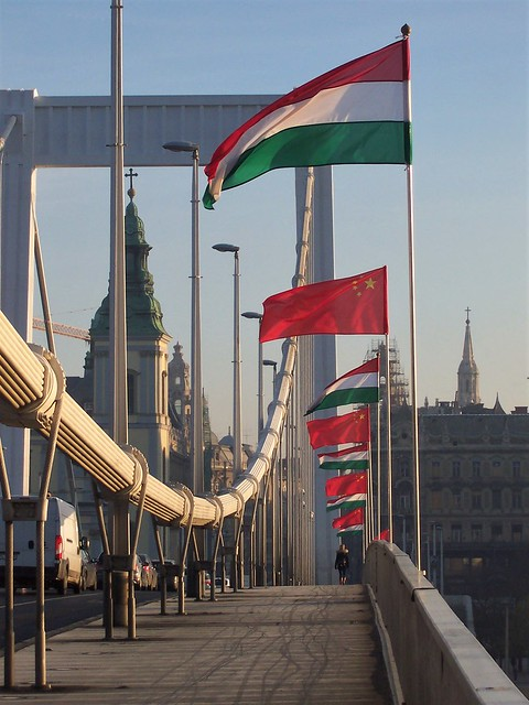 Flags out on the Danube for Chinese prime minister