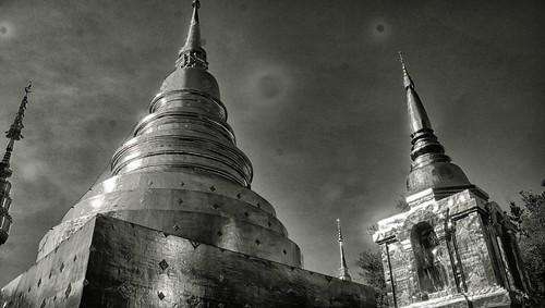 hdr bw buddha gold chiangmai j316 sony tamron a77 thailand rockets heavenly