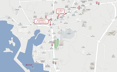 摹瑟浦港往中文區巴士站位置 | by BackpackerWebs.com