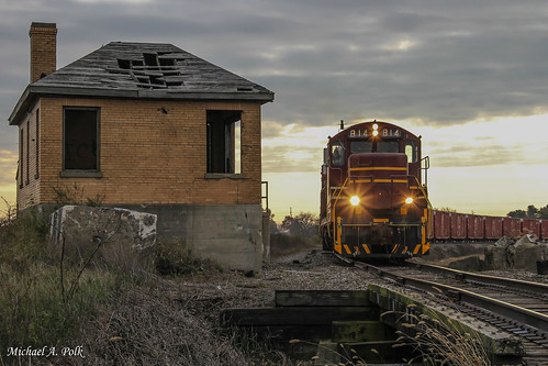 chesapeake indiana railroad boxcar company freight train wade tower la crosse hanna searchlight signal qn co monon