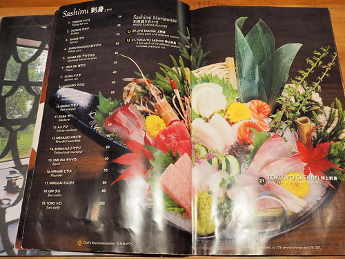 Sashimi menu of this Japanese Restaurant | by huislaw