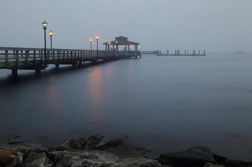 greencovesprings florida pier am fog foggy longexposure