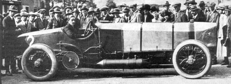 Leicestershire, BURTON LAZARS, St Andrew Count Zborowski With Chitty Bang Bang 1 At Brooklands