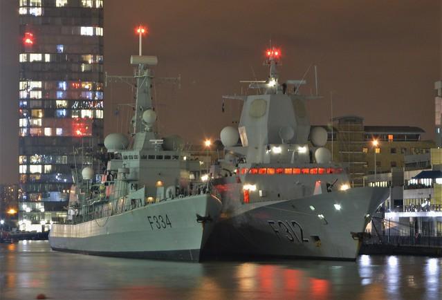 SNMG1 Frigates (1) @ West India Dock 28-11-17