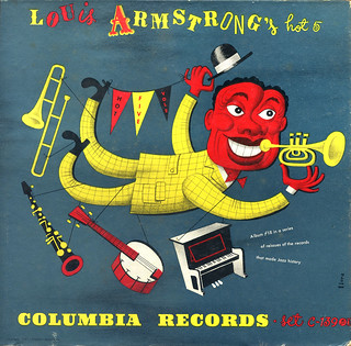 Louis Armstrong and His Hot 5 1947 - with cover by Jim Flora