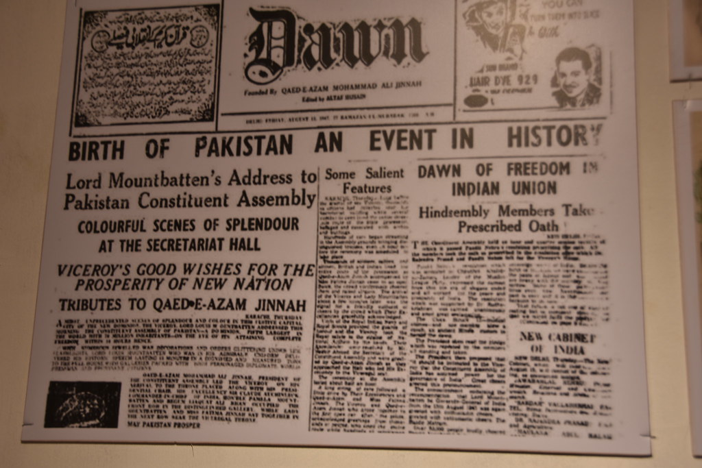 A local Pakistan newspaper announces the birth of Pakistan… | Flickr