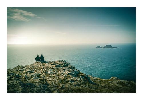capecornwall cornish coast coastline sea seascape brisons westcornwall winter cold couple together view vista islands