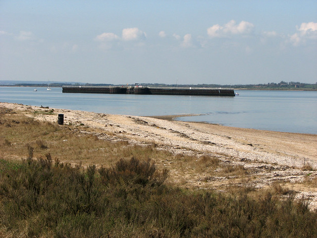 The coast at Bradwell Nuclear Power Station