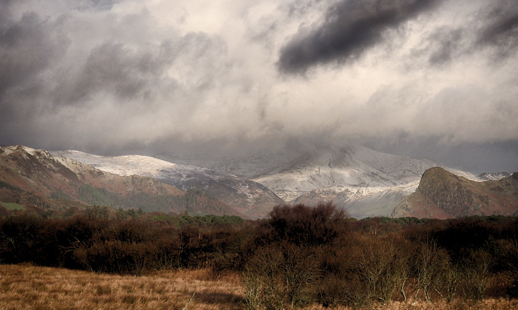 The Dysynni valley, in the midst of sleet/hail/snow showers ...