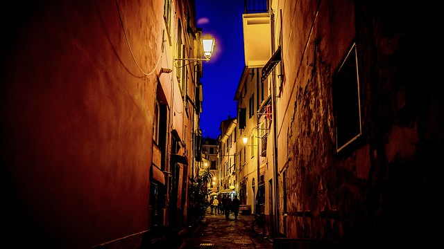 Monterosso nocturno, Cinque Terre
