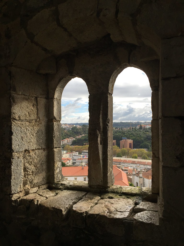 View from the castle in Leiria, Portugal.