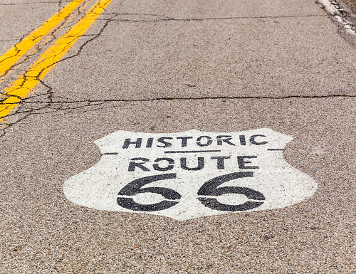 Route 66 Marker, ODell, Illinios | by russellstreet