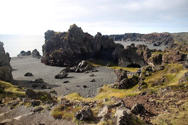 The beach at Djúpalónssandur