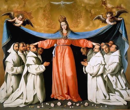 Maria met kartuizer monniken