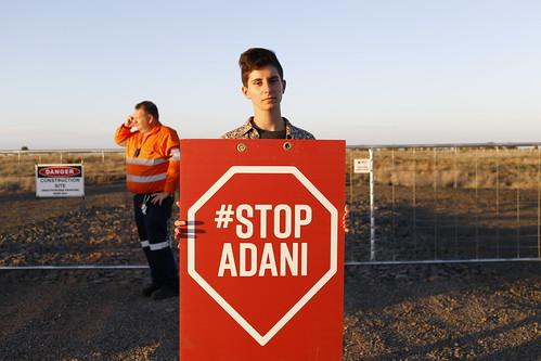 Adani rail site action 17 Nov