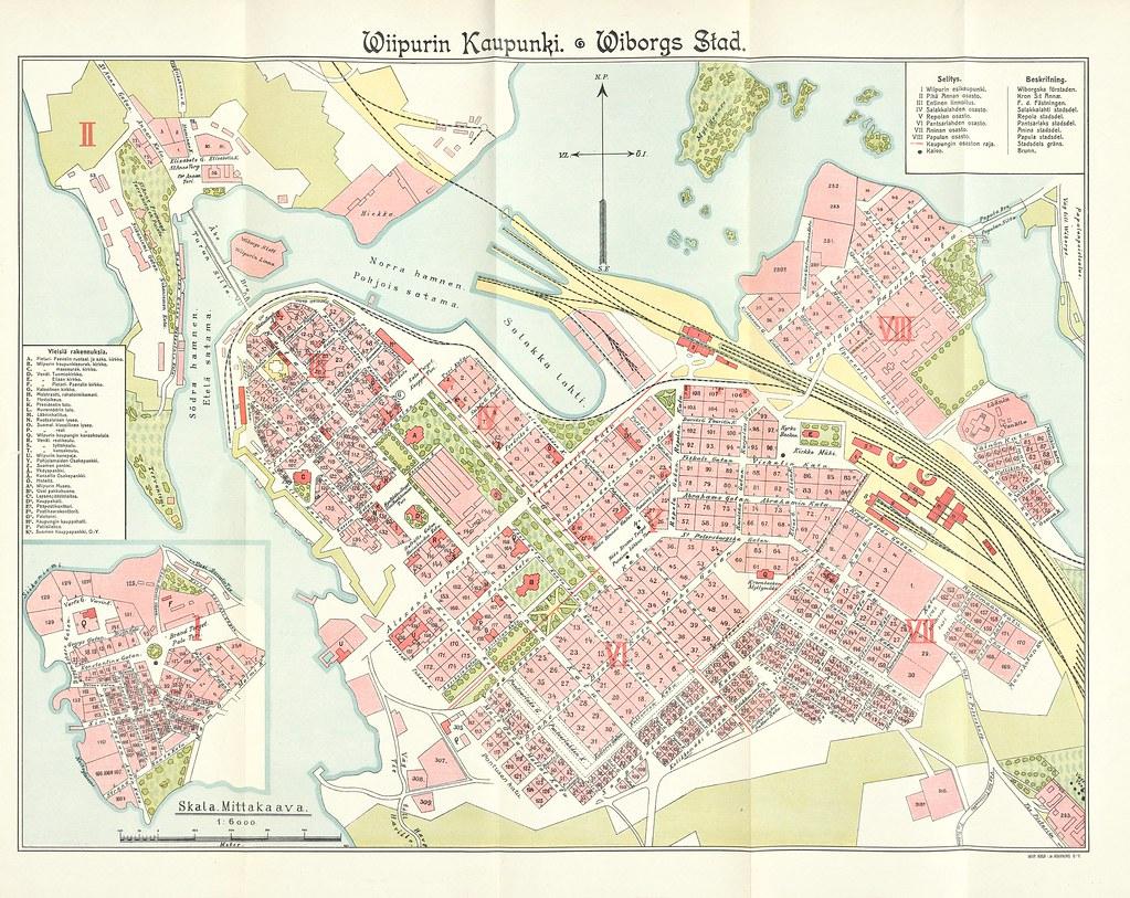 Kartta 01 01 1911 Viipurin Osote Ja Ammattikalenteri Flickr