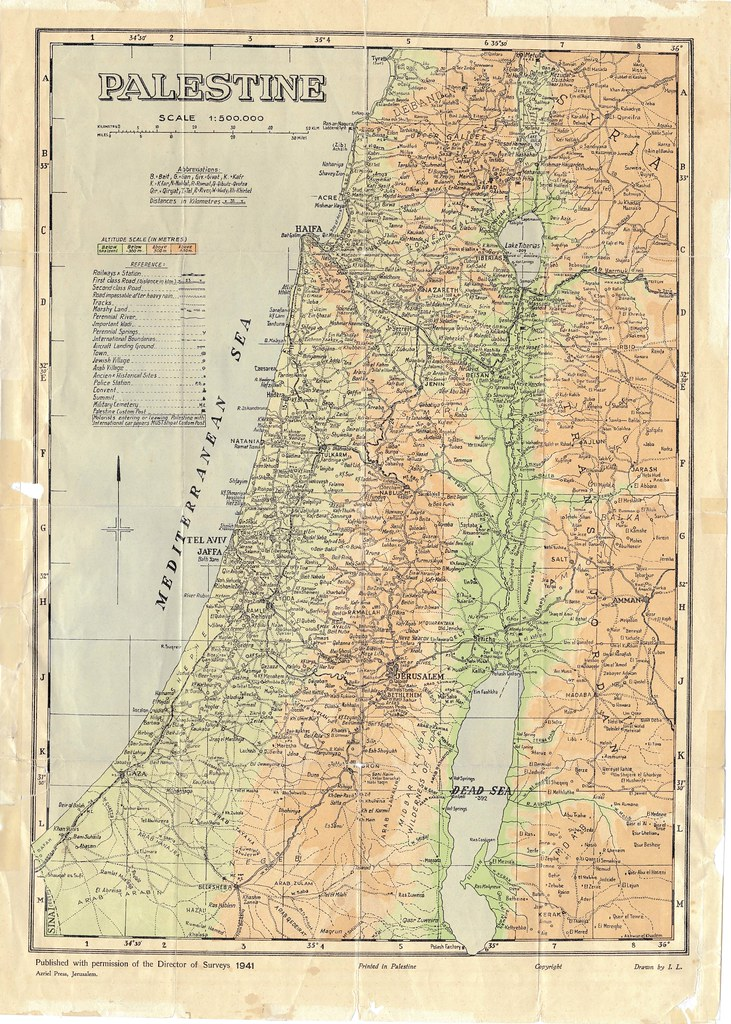 Palestine 1941 high resolution map | samer | Flickr