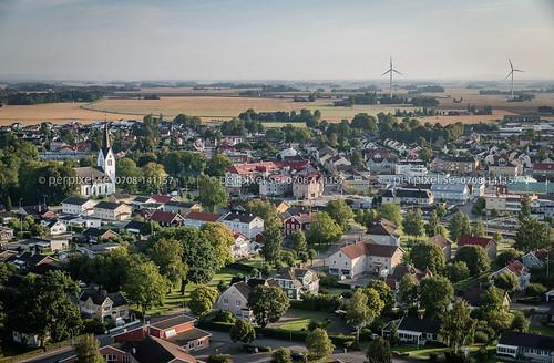 flygfoto vara 3 västragötaland sverige swe