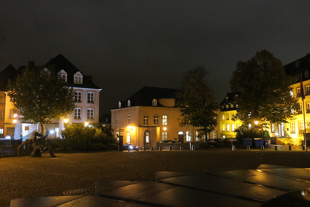 Luxembourg by night-Place Clairefontaine