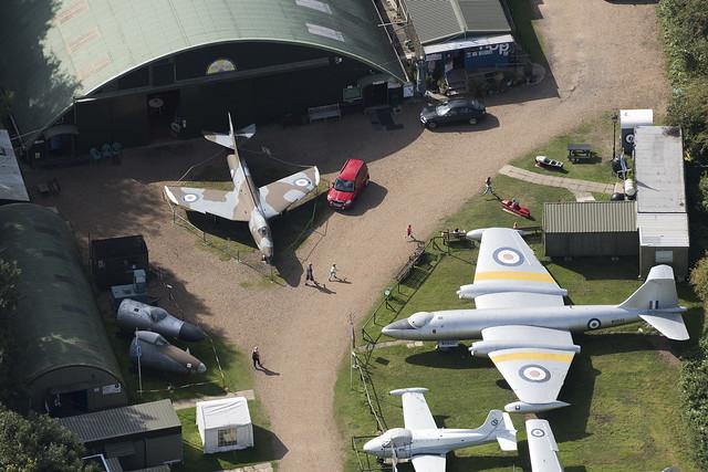 Flixton Aviation Museum - Suffolk aerial UK