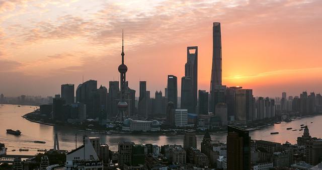 Shanghai Skyline at Dawn