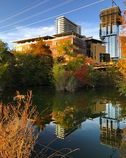 Austin Central Library in the Fall