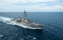 In this file photo, USS Pinckney (DDG 91) operates in the Pacific, Nov. 21. (U.S. Navy/MC1 Dominique M. Lasco)