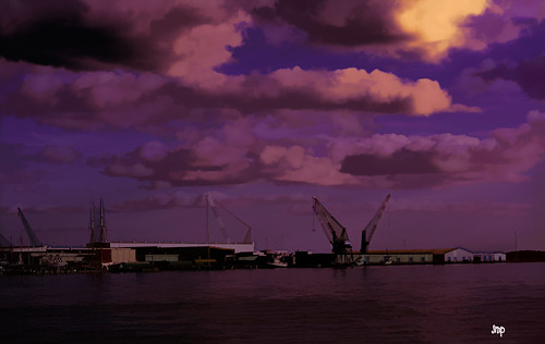 seaport sea bays clouds water ships photoshop nikon harbours home florida panamacityflorida coastal art digitalart