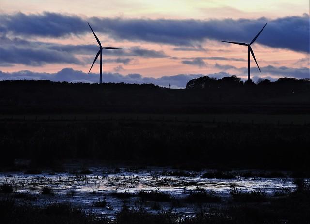 Cresswell - Wind Turbine Sunset
