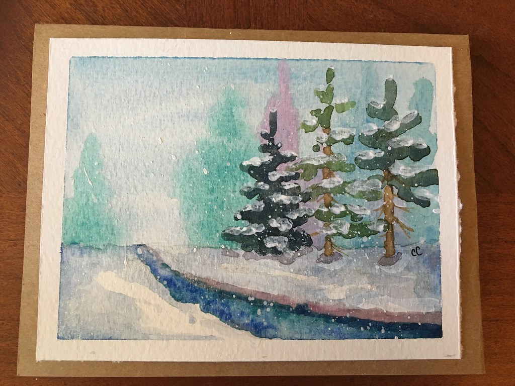 Watercolor Christmas Cards.Watercolor Christmas Cards Step By Step Lets Paint Nature