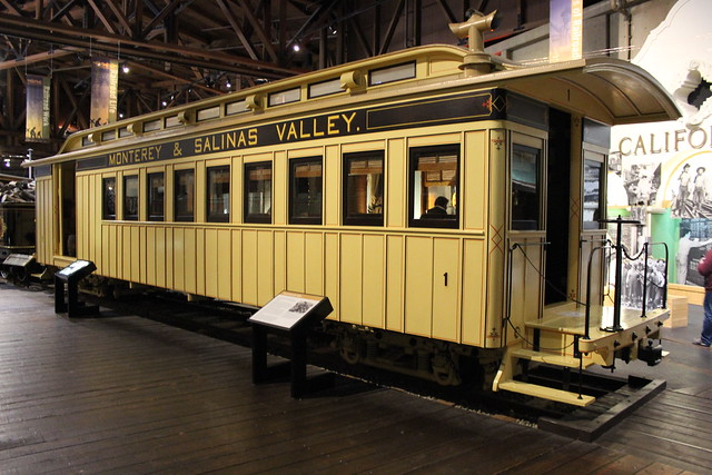 Monterey & Salinas Valley Combination Car No. 1 at the California State Railroad Museum