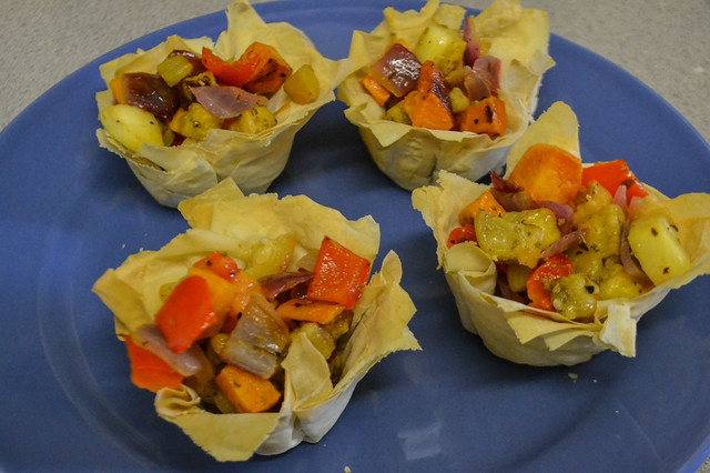 Roasted Veggies in Phyllo Cups