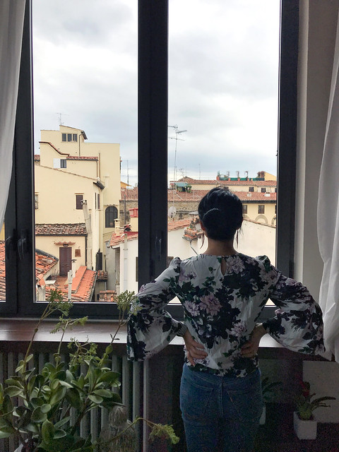 Me looking out at the charming views of Florence