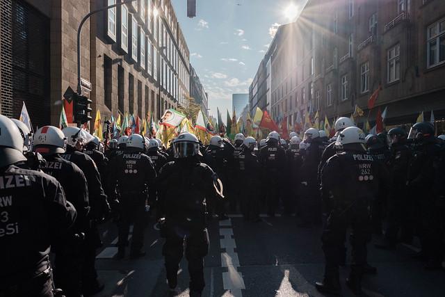 Kurden Demonstration Düsseldorf