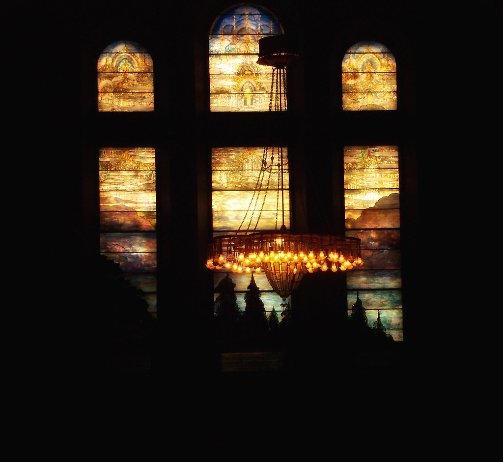 Buffalo new york the first presbyterian church tiffany stain glass windows light