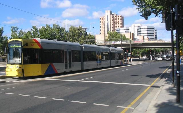 Adelaide CBD tram terminus 2007