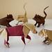 Origami Dog and Cat by Jakub Krajewski (Origaming)