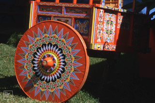 Sarchi painted ox cart