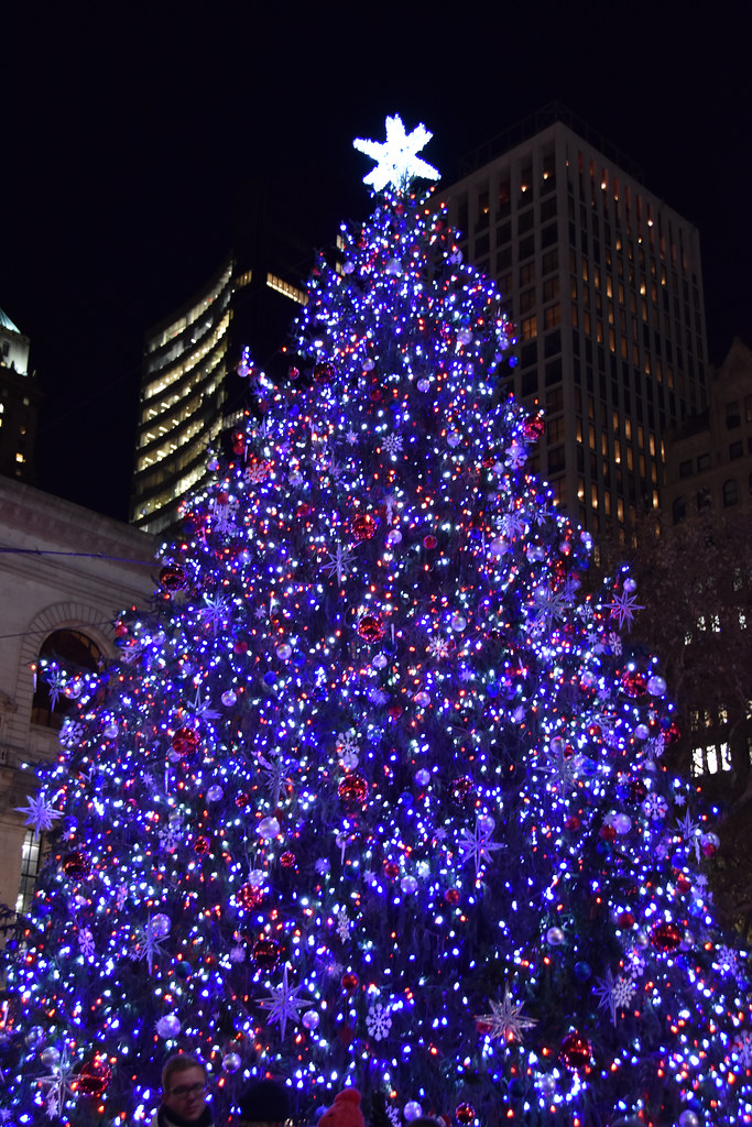 Bryant Park Christmas.A Picture Of The 2017 Bryant Park Christmas Tree In New Yo