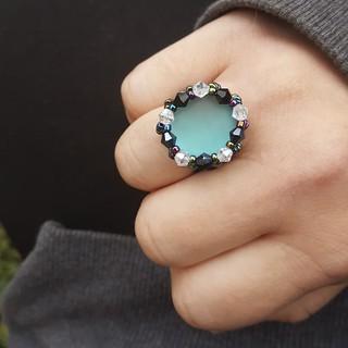 Handmade Bezeled Ring  ➡️facebook.com/beadgram  🆓️Shipping on Orders of $25 or more