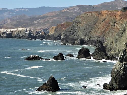 california marincounty pacificocean capebonita nature landscape water seascape coastline cliffs waves rocks