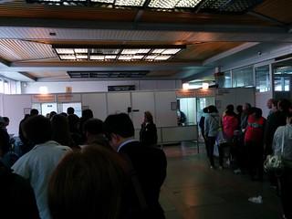 Passport control at Irkutsk Airport