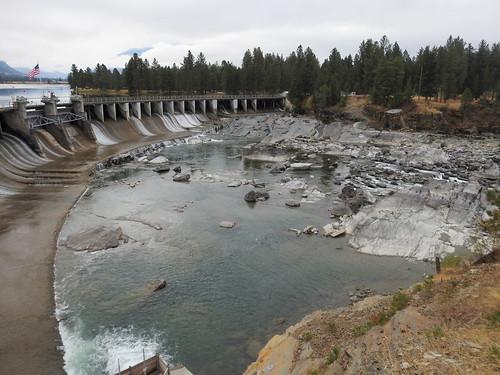 dam montana usa waterfalls
