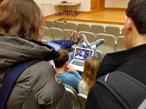 Happening Now: @dukestudents watch a livestream of @dukepolisci professor Peter Feaver as he testifies before the Senate Foreign Relations Committee today. //PC: @dukepolisci