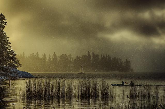 Rowing and Sailing in Snowfall