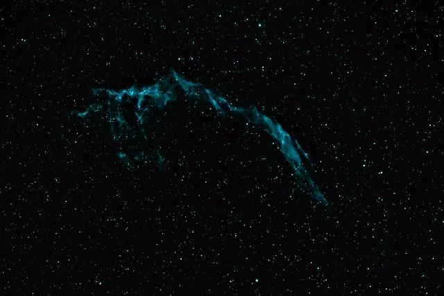 Veil Nebula with OIII filter (NGC 6960)