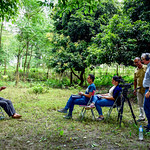 CIFOR and ForestAction Nepal tape an interview in Southern Nepal