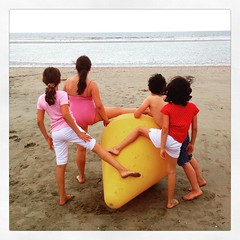 Kids on the beach #kids #cousins #normandie