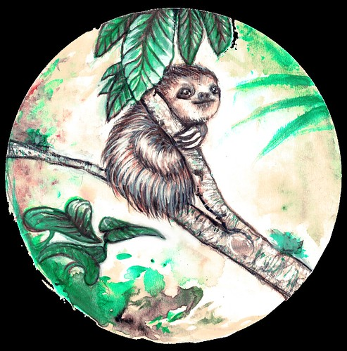 sloth copie copie | by laween-illustrator