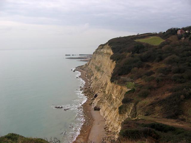 The coast near Ecclesbourne Glen